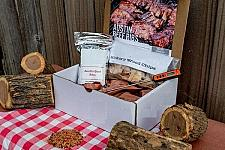 Buy New BBQ Gift crate Set kit includes a rub, prep and recipe Free Shipping