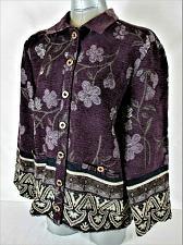 Buy SAG HARBOR womens Sz 8 petite L/S multicolor TAPESTRY button down jacket (B2)P