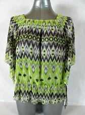 Buy SIGNATURE by LARRY LEVINE womens Large BATWING SLEEVE GREEN GRAY TOP (P)P