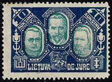 Buy Lithuania #119C Smetona; Staugaitus; Silingas; Unused (1Stars) |LIT0119C-01XRP