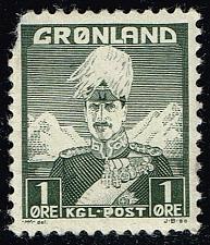 Buy Greenland #1 Christian X; Unused (0.30) (0Stars) |GRN0001-01