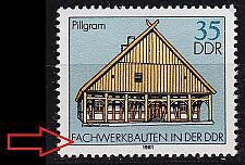 Buy GERMANY DDR [1981] MiNr 2626 I ( **/mnh ) Bauwerke Plattenfehler