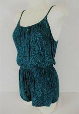 Buy FOREVER 21 womens Small blue black SPAGHETTI STRAP romper (V)P
