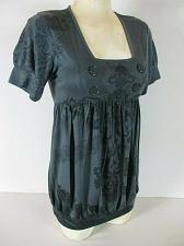 Buy ESPRESSO womens Large S/S gray PRINTED maternity top (C)