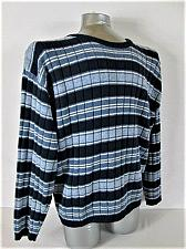 Buy NORTHERN REFLECTIONS mens Large L/S BLUE WHITE STRIPED CREW NECK SWEATER (I)P