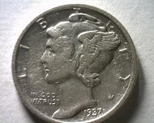 Buy 1937-D MERCURY DIME EXTRA FINE / ABOUT UNCIRCULATED XF/AU NICE ORIGINAL EF/AU