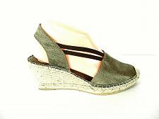 Buy Vidorreta Beige Slingback Wedge Sandals Heels Shoes Women's 7.5 (SW17)