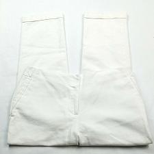 Buy Chicos So Slimming Womens Dress Pants 0.5 - 6 Solid White Cuffed Stretch