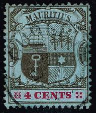 Buy Mauritius #131 Coat of Arms; Used (0.25) (3Stars)  MAU0131-02XRS