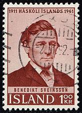 Buy Iceland #342 Benedikt Sveinsson; Used (0.25) (3Stars) |ICE0342-01XRS