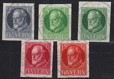 Buy GERMANY Bayern Bavaria [1916] MiNr 0110-15 B ( O/used )