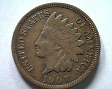 Buy 1907 INDIAN CENT PENNY ABOUT UNCIRCULATED AU NICE ORIGINAL COIN FROM BOBS COINS