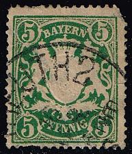 Buy Germany-Bavaria #62a Coat of Arms; Used (0.65) (0Stars) |BAY062a-01XVA