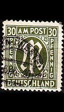 Buy GERMANY Alliiert AmBri [1945] MiNr 0029 c B ( O/used )