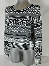 Buy H&M DIVIDED womens Medium L/S black white CROPPED sweater (B2)P