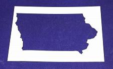 """Buy State of Iowa Stencil 14 Mil 8"""" X 10"""" Painting /Crafts/ Templates"""