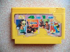 Buy 4 in 1. Famicom Dendy Yellow Casette Video Games. Contra etc.