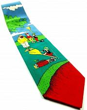 Buy American Greetings Precision Player Men Playing Golf Funny Novelty Silk Tie