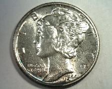 Buy 1944-S MERCURY DIME CHOICE ABOUT UNCIRCULATED+ CH AU+ NICE COLOR TONING ORIGINAL