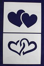 "Buy Large Hearts 2 Piece Stencil Set 14 Mil 8"" X 10"" Painting /Crafts/ Templates"