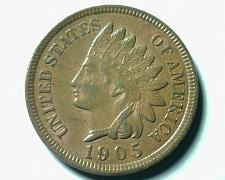 Buy 1905 INDIAN CENT PENNY CHOICE ABOUT UNCIRCULATED++ CH AU++ NICE ORIGINAL COIN