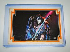 Buy VINTAGE KISS LIVE GENE SIMMONS 1978 AUCOIN ROCK MUSIC COLLECTORS CARD #23 GD/VG