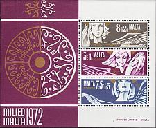 Buy MALTA [1972] MiNr 0454-56 Block 2 ( **/mnh ) Weihnachten