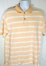 Buy Jos A Bank Stays Cool Men's Polo Shirt Large Orange & White Striped