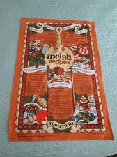Buy Cotton Tea Towel Wales Welch Recipes Stew Bread Pudding Souvenir Vintage