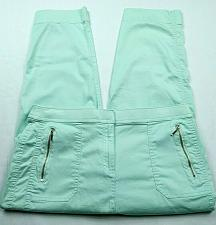 Buy Chicos Zenergy Womens Paige Cropped Skinny Pants 8 Mint Green Stretch Zip Pocket