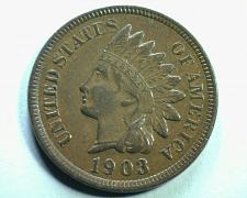 Buy 1903 INDIAN CENT PENNY CHOICE ABOUT UNCIRCULATED CH. AU NICE ORIGINAL COIN