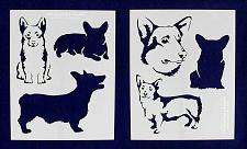 "Buy Corgi Dog Stencils-Mylar 2 Pieces of 14 Mil 8"" X 10"" - Painting /Crafts/ Templat"