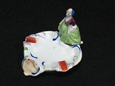Buy Porcelain Victorian Lady Figural Ashtray Snuffer Vintage Japan