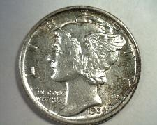Buy 1936 MERCURY DIME CHOICE ABOUT UNCIRCULATED CH. AU NICE COLOR / TONING ORIGINAL