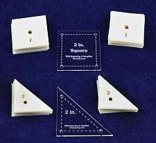 """Buy Mylar 2"""" Square & 2"""" RightTriangle 102 Piece Set - Quilting / Sewing Templates"""