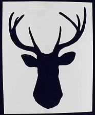 "Buy Buck-Deer Head Stencil F-Xlg-Mylar 14 Mil 15.6""W X 19.50H - Painting /Crafts/ Te"