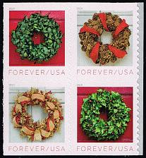 Buy US #5427a Holiday Wreaths Block of 4; MNH (4Stars) |USA5427a-03