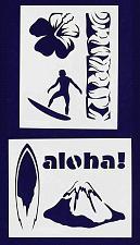 Buy Hawaiian Stencils -2 pc set-Mylar 14mil - Painting /Crafts/ Templates