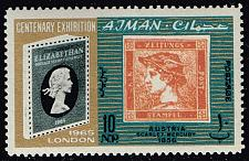 Buy Ajman #38 Austria Stamp; MNH (4Stars)  AJM0038-01XRS