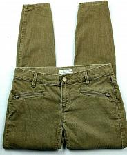 Buy Ann Taylor Loft Womens Modern Skinny Ankle Corduroy Pants Size 0 Tan Zip Pockets