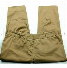Buy Talbots Womens Signature Casual Cropped Pants Size 10P Solid Tan Stretch
