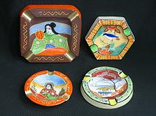Buy LOT of 4 Oriental Themed Ashtrays Made In Japan Vintage