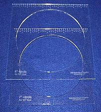 "Buy 2 Piece Inside Circle Set 7"" & 8"" W/rulers ~1/4"" Thick - Long Arm- For 1/4"" Foot"