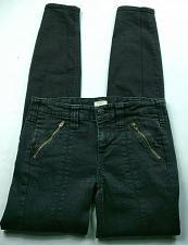Buy J Crew Women's Utility Skinny Jeans Size 00 Black Stretch Cargo Zipper Pockets