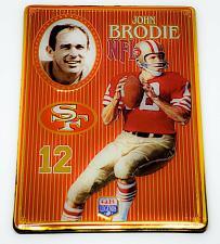 Buy NFL 1993 Metallic Images Quarterback Collection Metal Card #2 JOHN BRODIE 49ers