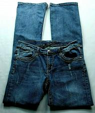 Buy Seven7 Women's Flare Jeans Size 6 Rhinestones Distressed Stretch Medium Wash