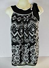 Buy MISTY & MAX womens Medium sleeveless black white BOW fully lined top (B6)