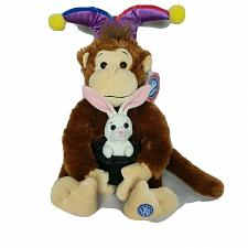 "Buy NWT Ringling Brothers Circus Monkey Court Jester Magic Rabbit Hat Plush 19"""