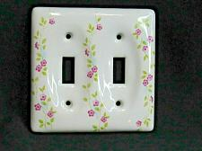 Buy Atron Wildflower Porcelain Light Switch Outlet Cover Toggle Wall Plates