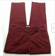 Buy LOFT Outlet Womens Original Ankle Pants Size 0 Solid Red Cropped